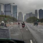 chicago w deszczu