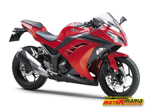 2013 Ninja 250R Passion Red czerwona