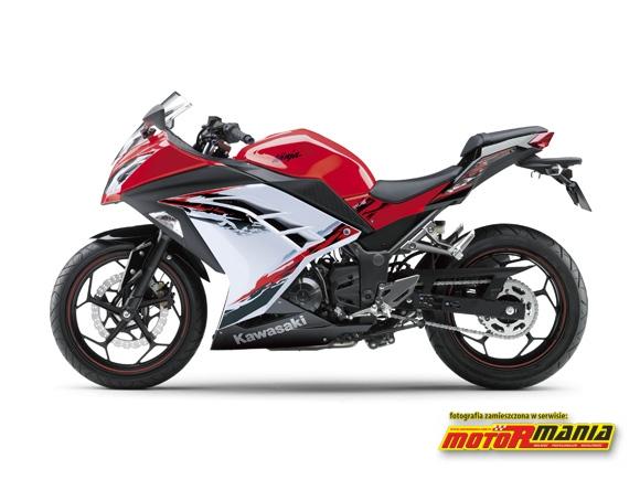 Bialo czerwona Ninja 2013 250r