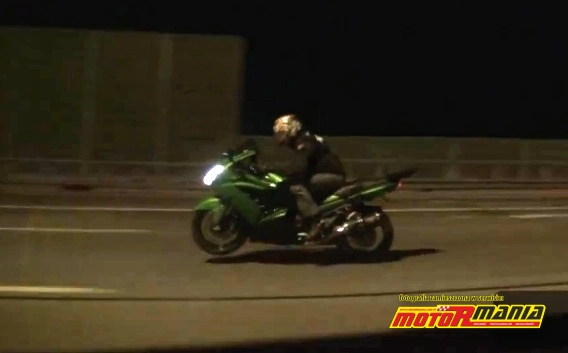 Kawasaki ZZR1400 vs Nissan GTR 1000 KM AMS Alpha - Rosja