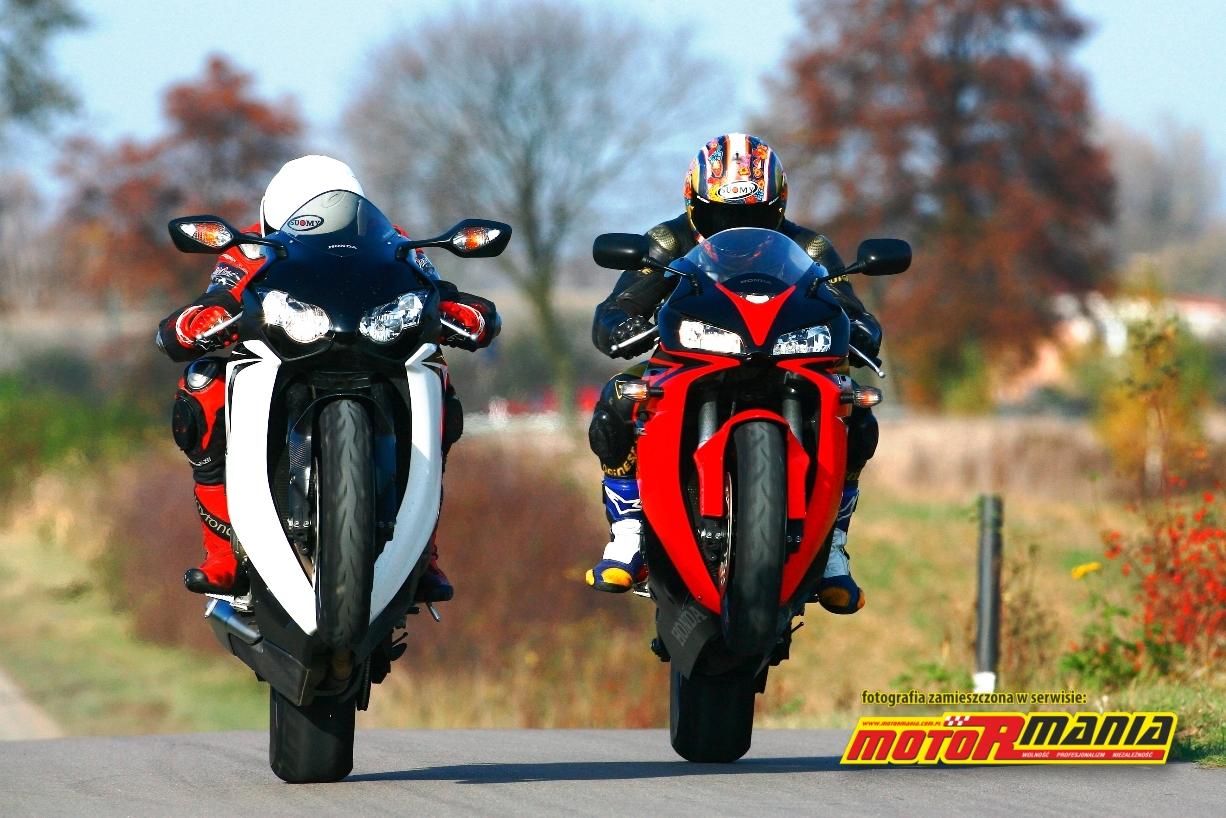 Honda CBR 1000 vs CBR600 na kole - MotoRmania - Motocykle