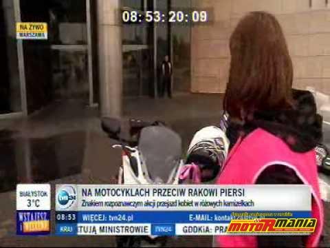 Motocyklistki kontra nowotwór, czyli MOTORóżowi… piersi w trasie!