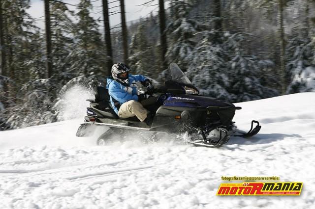gorsza i lepsza technika skrecania - Yamaha RS Venture - skuter sniezny (6)