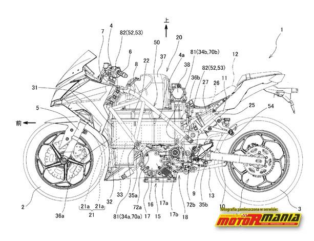 Motocykl Kawasaki z silnikiem elektrycznym
