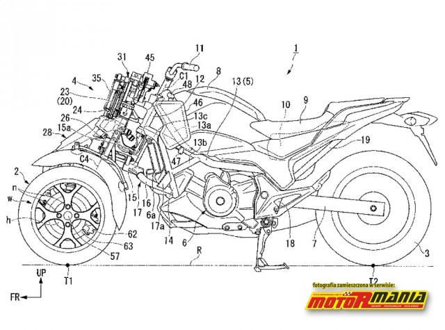 Honda trzykolowiec patent (1)