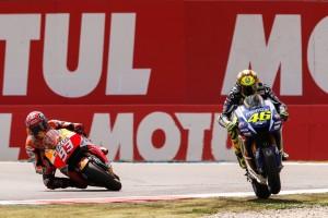 Rossi vs Marquez assen 2015 - 2