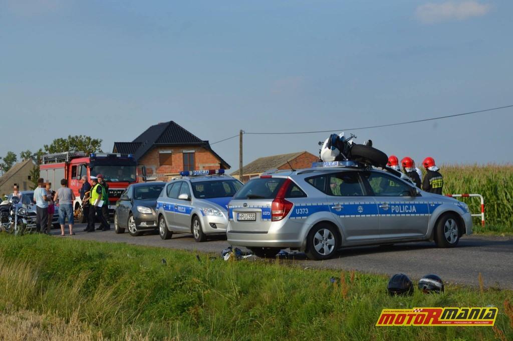 Poscig gsxr1000 witkowo policja blokada na dachu (2) - fot Kurier Witkowski