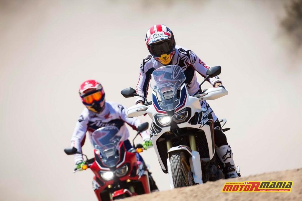 Marquez & Barreda na Africa Twin CRF1000L (1)