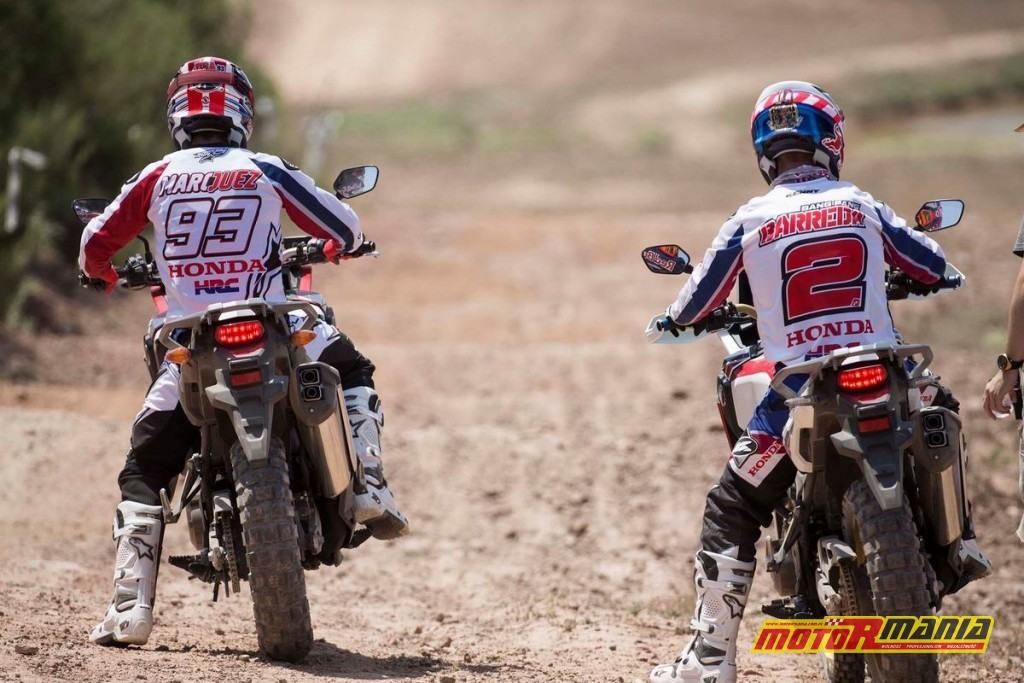 Marquez & Barreda na Africa Twin CRF1000L (2)