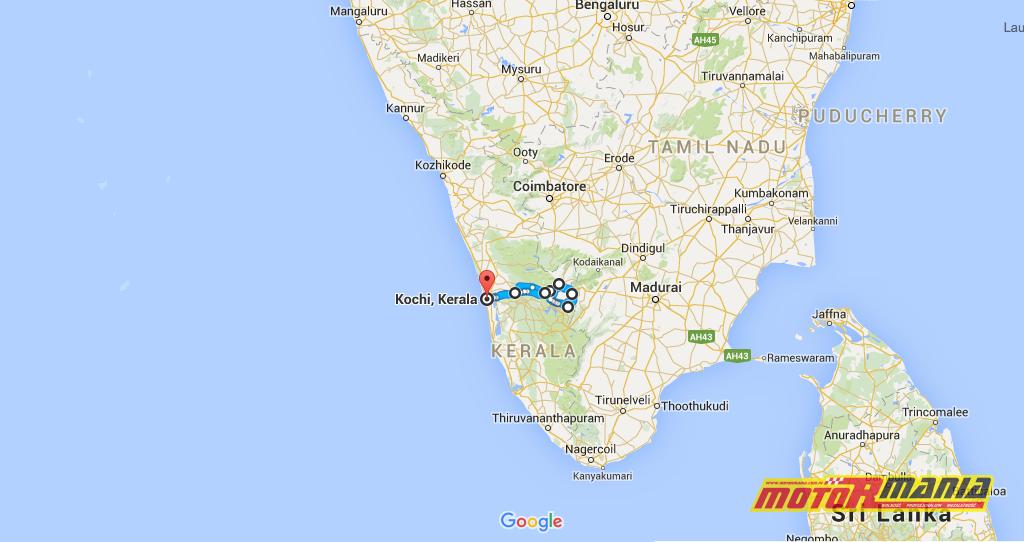 Royal Enfield w Kerali, Indie