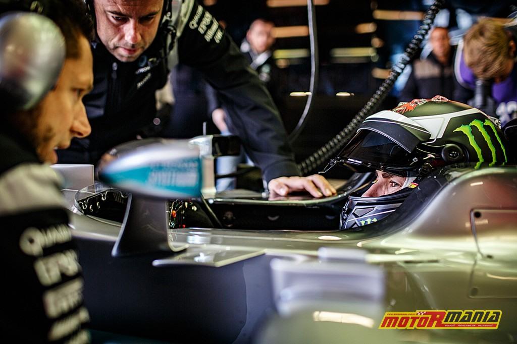 Jorge Lorenzo w bolidzie F1 mercedes silverstone (1)
