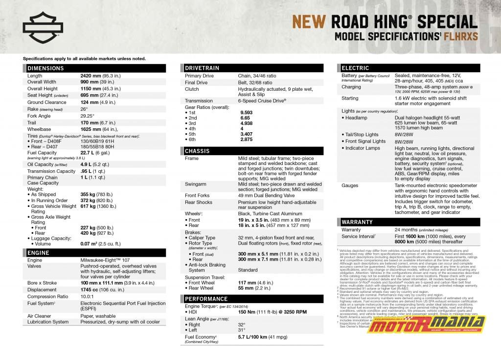 Road-King-Special-2017-dane-techniczne-tech-spec