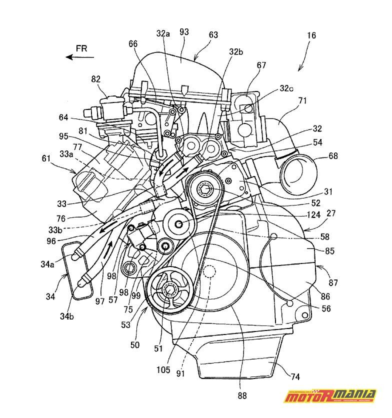 Rysunki patentowe Honda z kompresorem Supercharger (1)