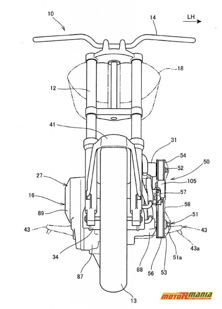 Rysunki patentowe Honda z kompresorem Supercharger (2)