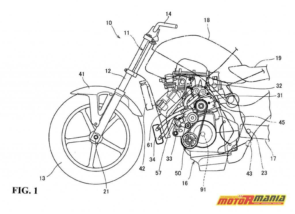 Rysunki patentowe Honda z kompresorem Supercharger (3)