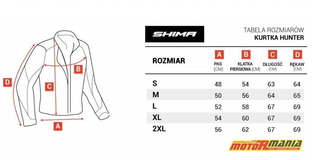 SHIMA_size_chart_kurtki