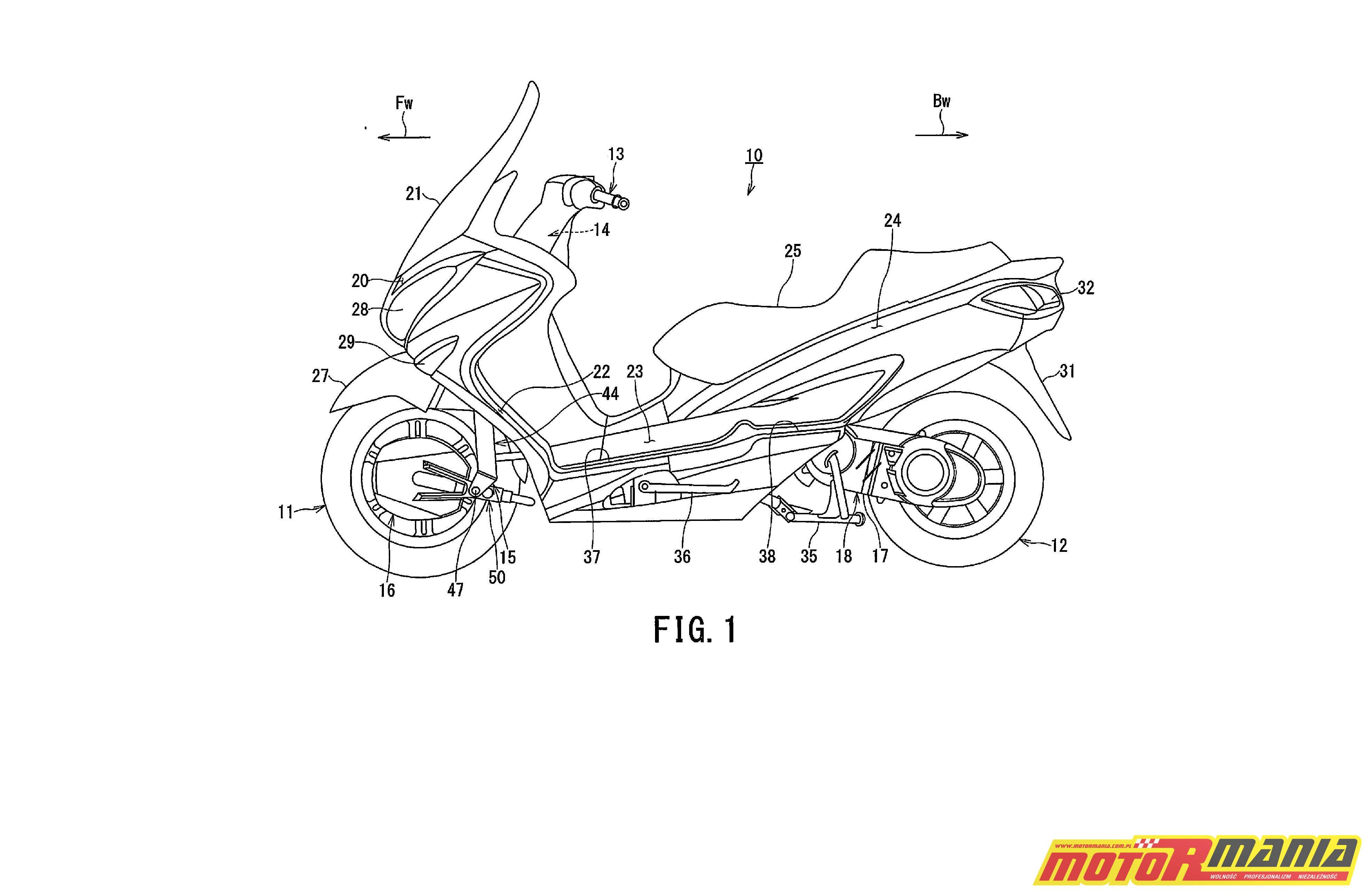 Suzuki Burgman 2WD hybryda elektryk - diagram (1)