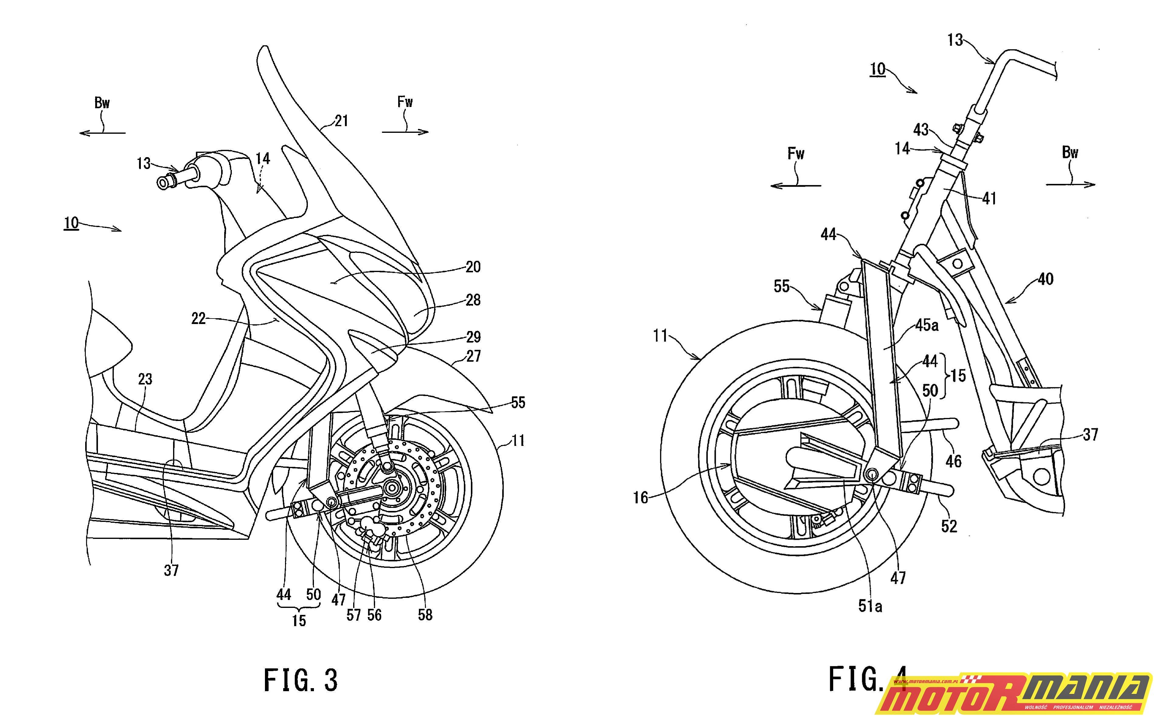 Suzuki Burgman 2WD hybryda elektryk - diagram 3 i 4