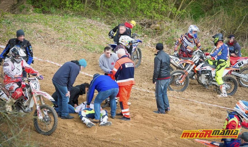 Tomasz Gollob wypadek motocross - fot Piotr Przybylski