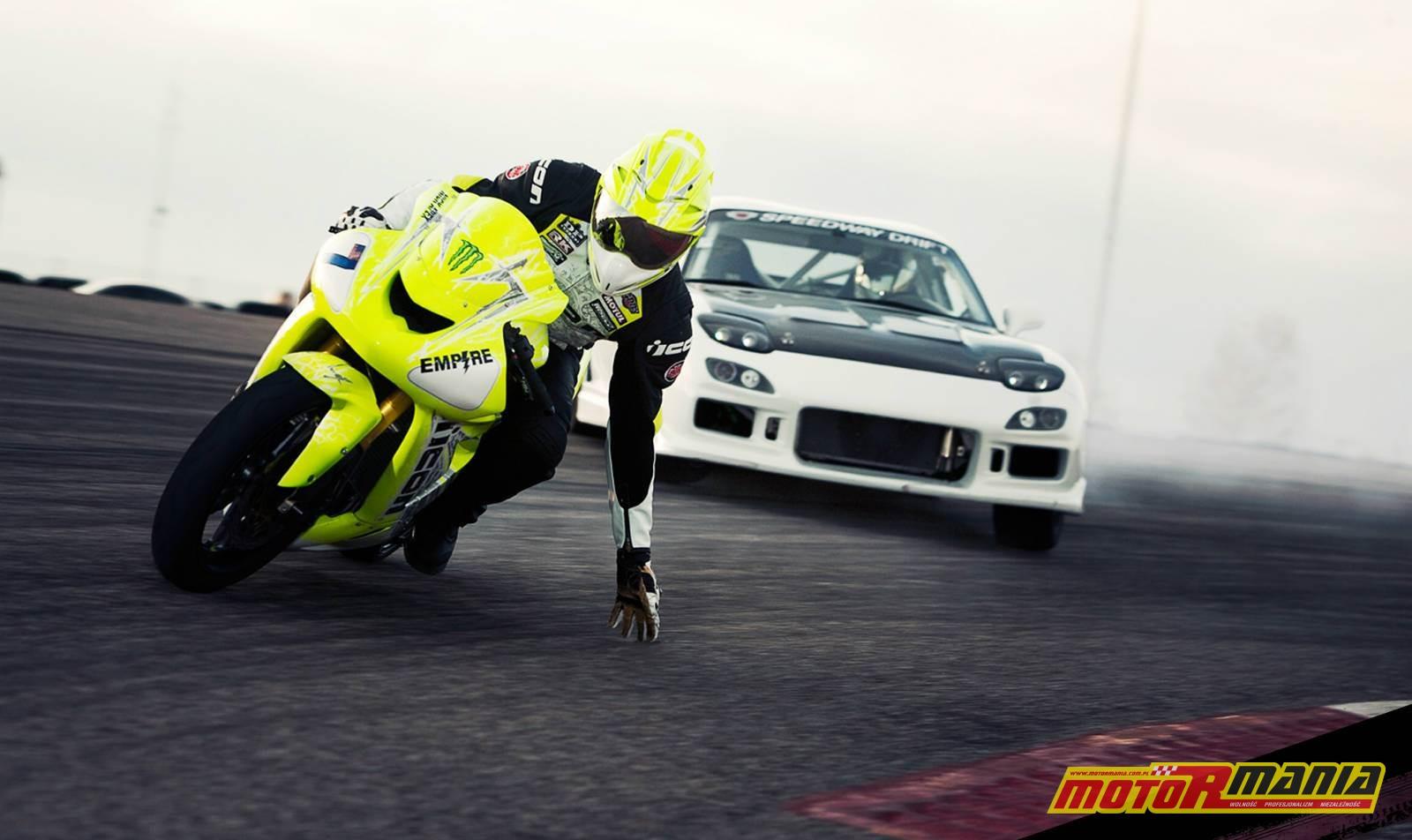 motocykl kontra samochod