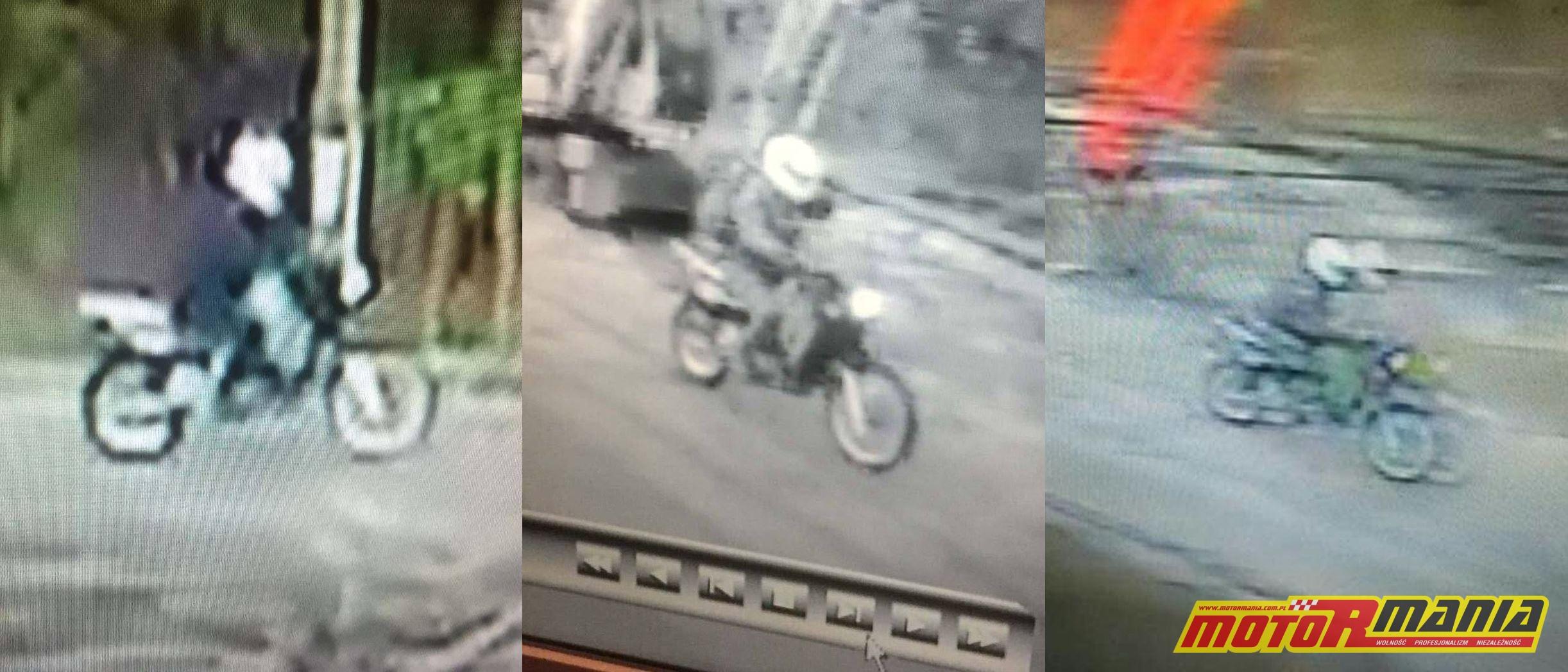 motocyklista ucielk wypadek potrącenie