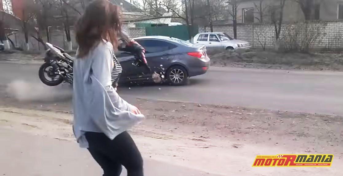 wypadek taniec pobocze