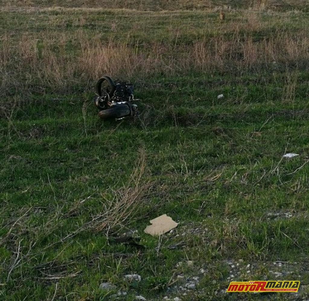 Wypadek Rosja 2 motocyklistow zderzenie czołowe (5)