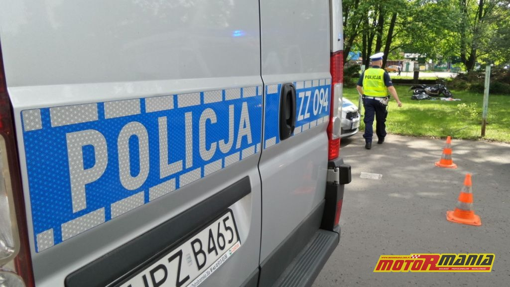 Wypadek w trakcie kursu kat A (2) - fot Tomasz Zieliński, tvnwarszawa_pl