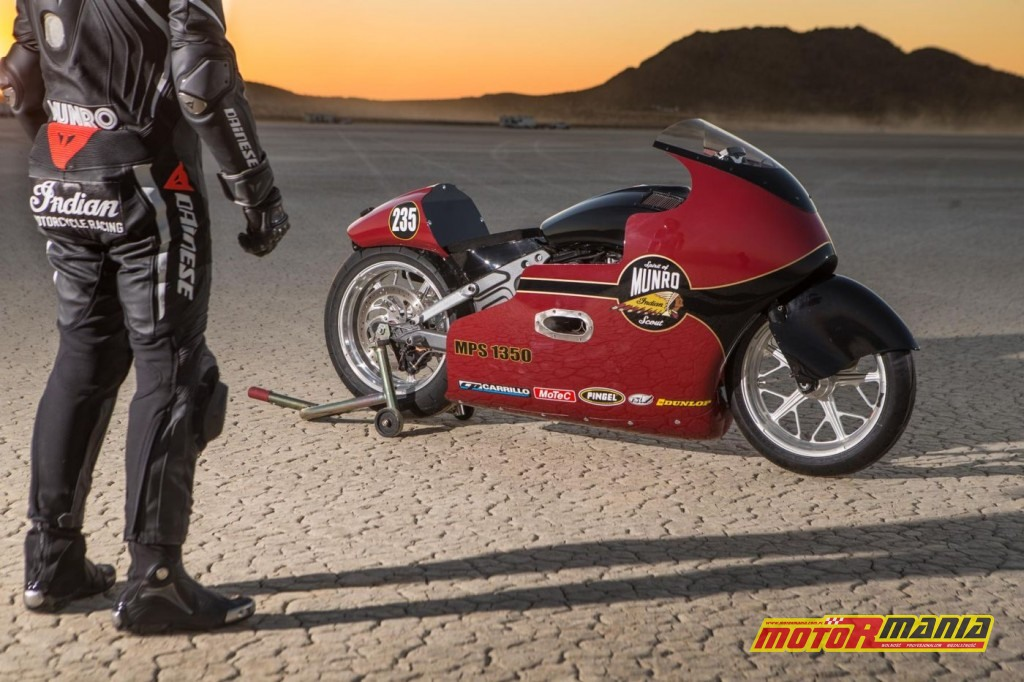 Indian Scout rekord predkosci Lee Munro (2)