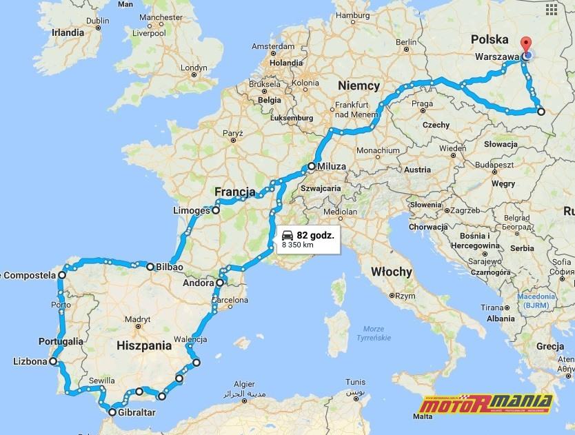 moto spain 2017 - trasa