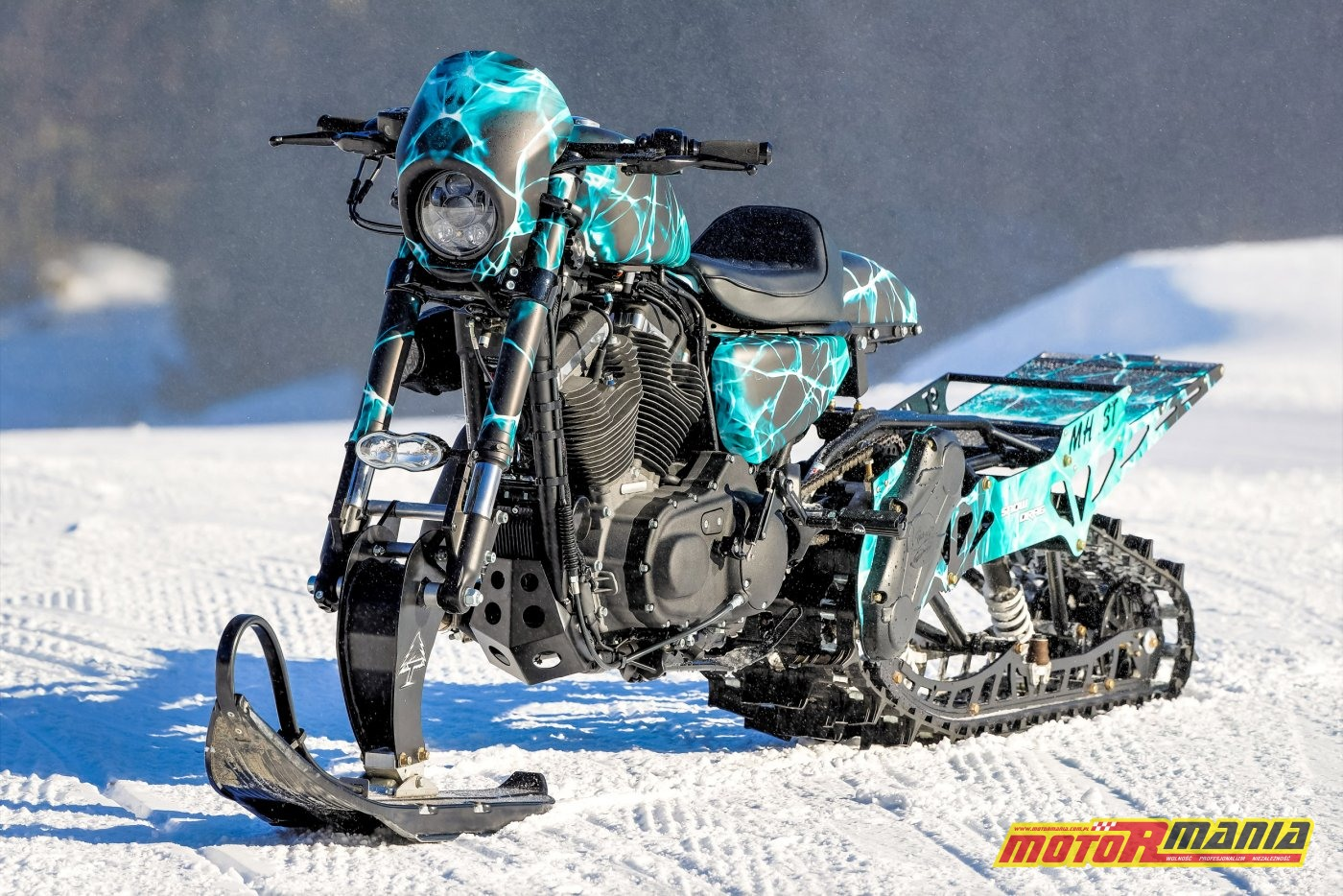 Harley Snow Drag (1)