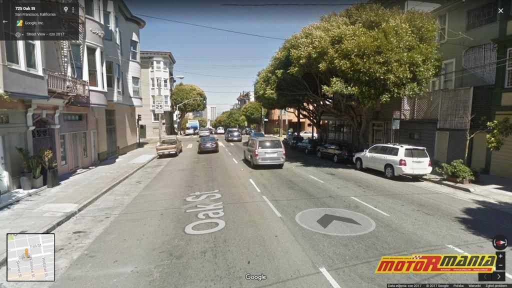 Kolizja miała miejsce w okolicy skrzyżowania ulic Oak i Fillmore w San Francisco.