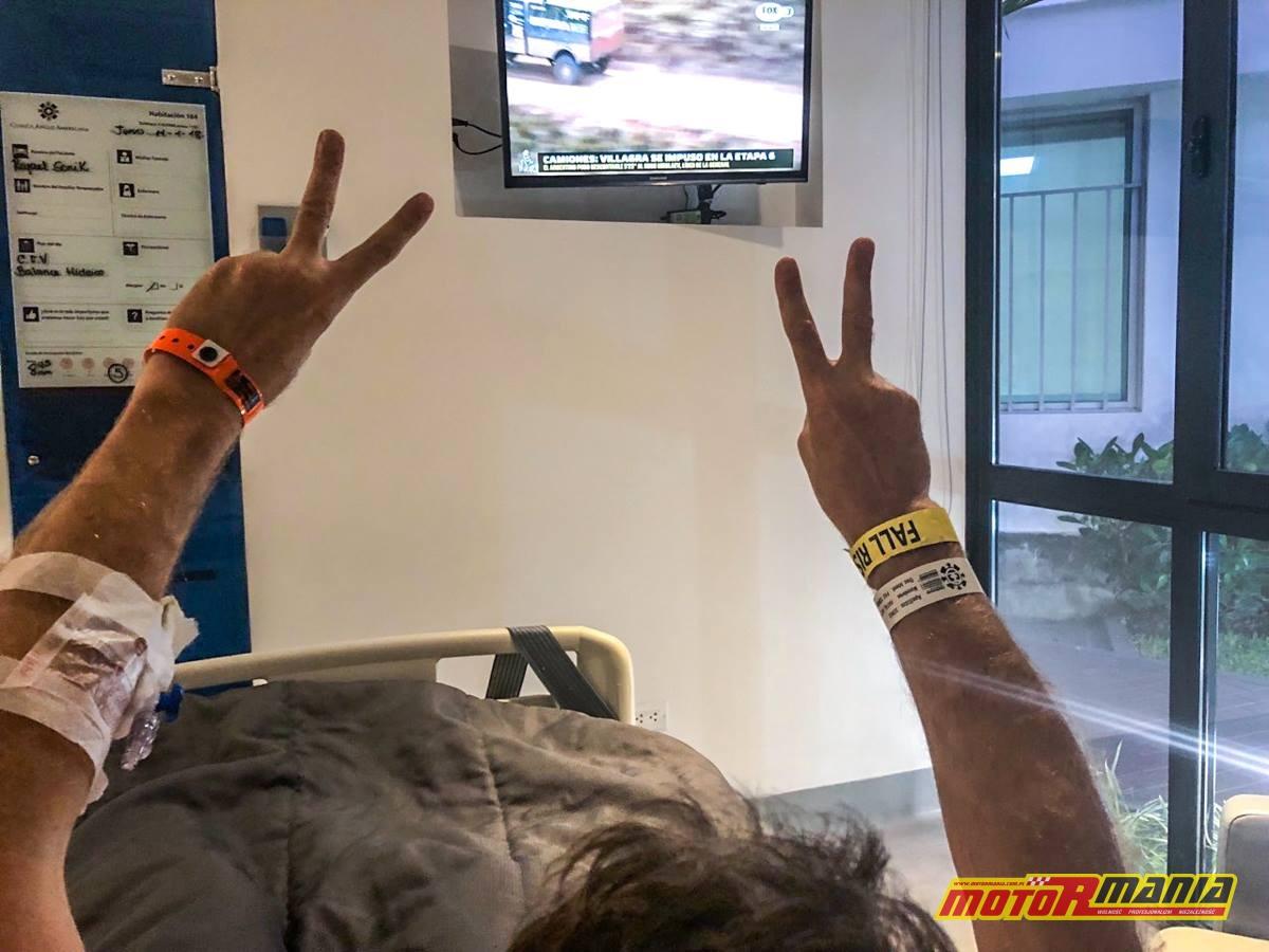Rafal Sonik ze szpitala