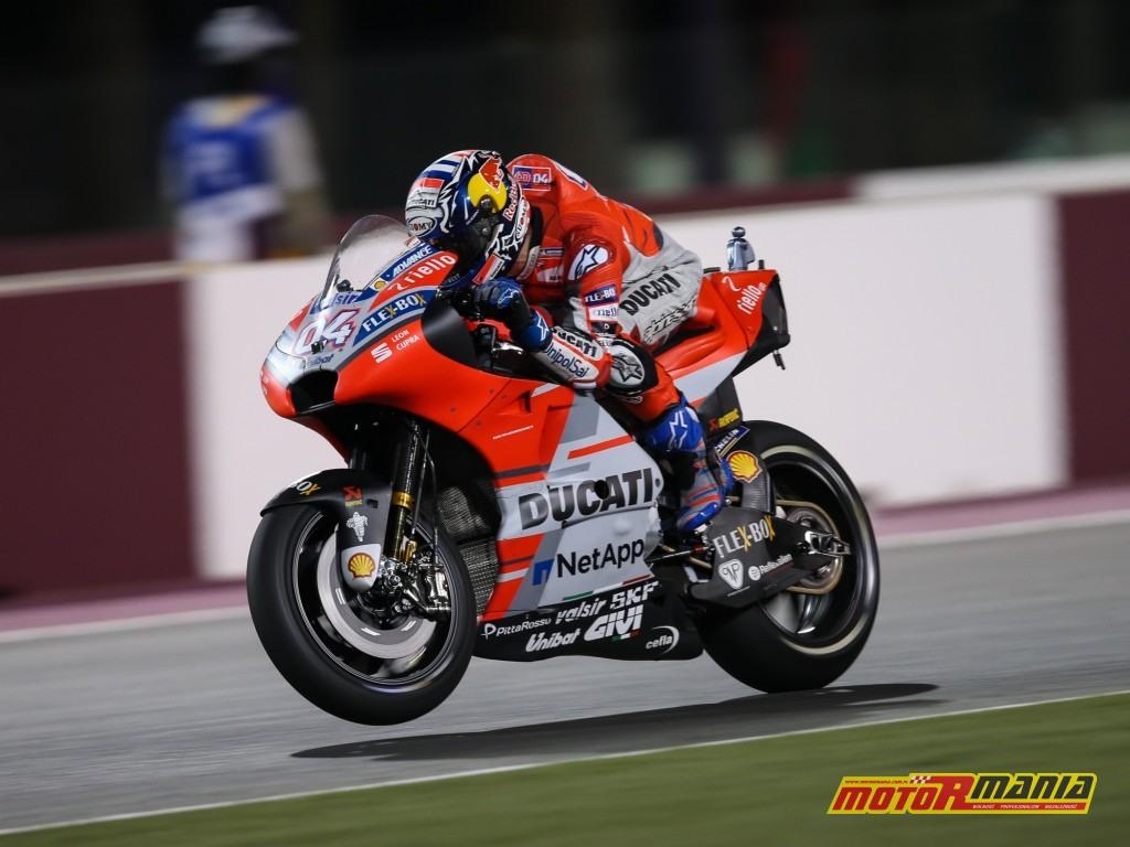 Dovizioso w akcji na Ducati