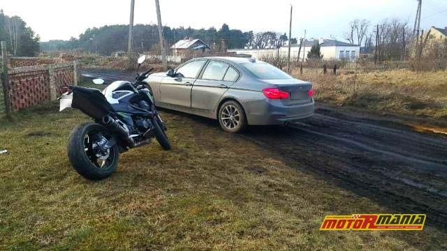 Gorzow pościg bmw kradzione Kawasaki brak prawka (5)