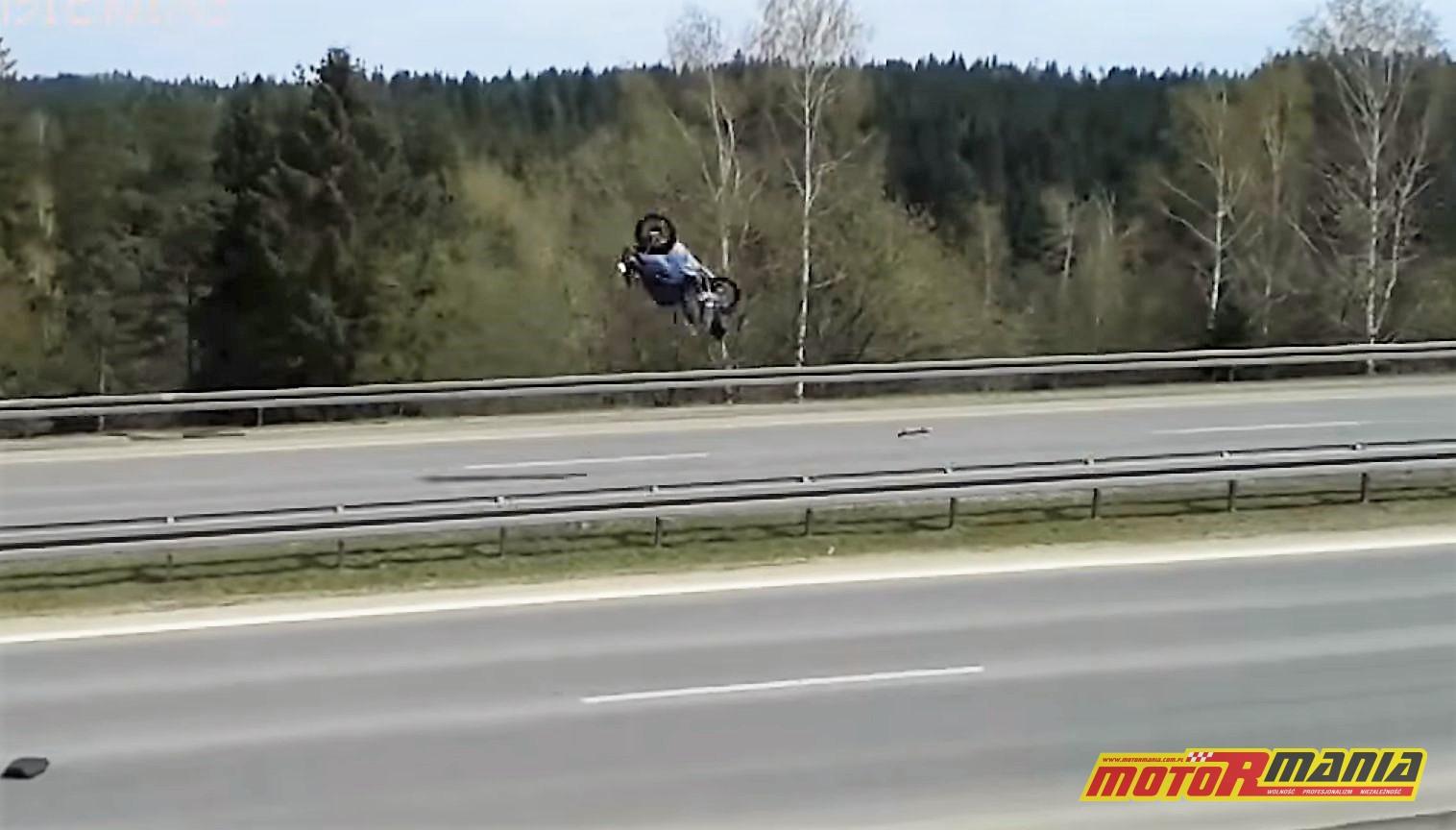 wypadek wheelie chabówka