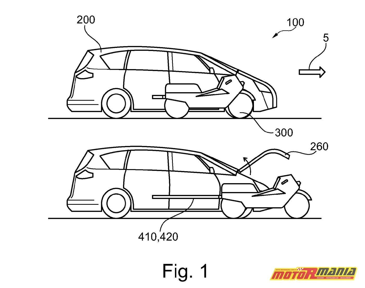 Ford motocykl samochód patent (3)