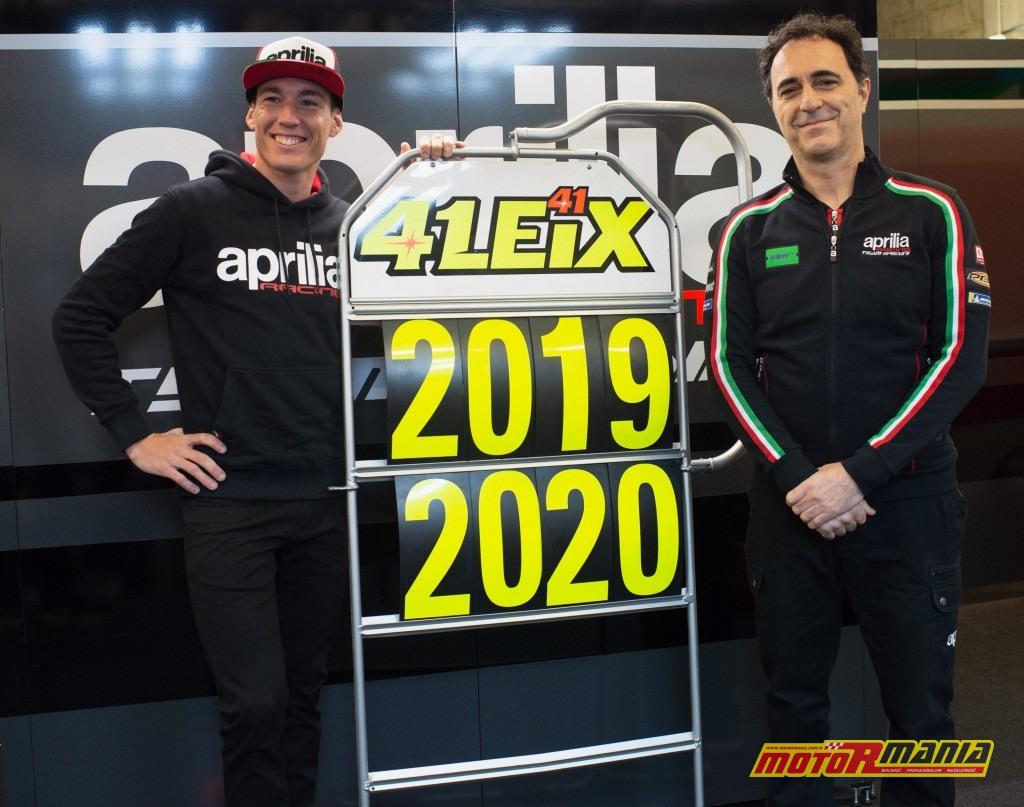 Aleix i szef projektu Aprilii, Romano Albesiano