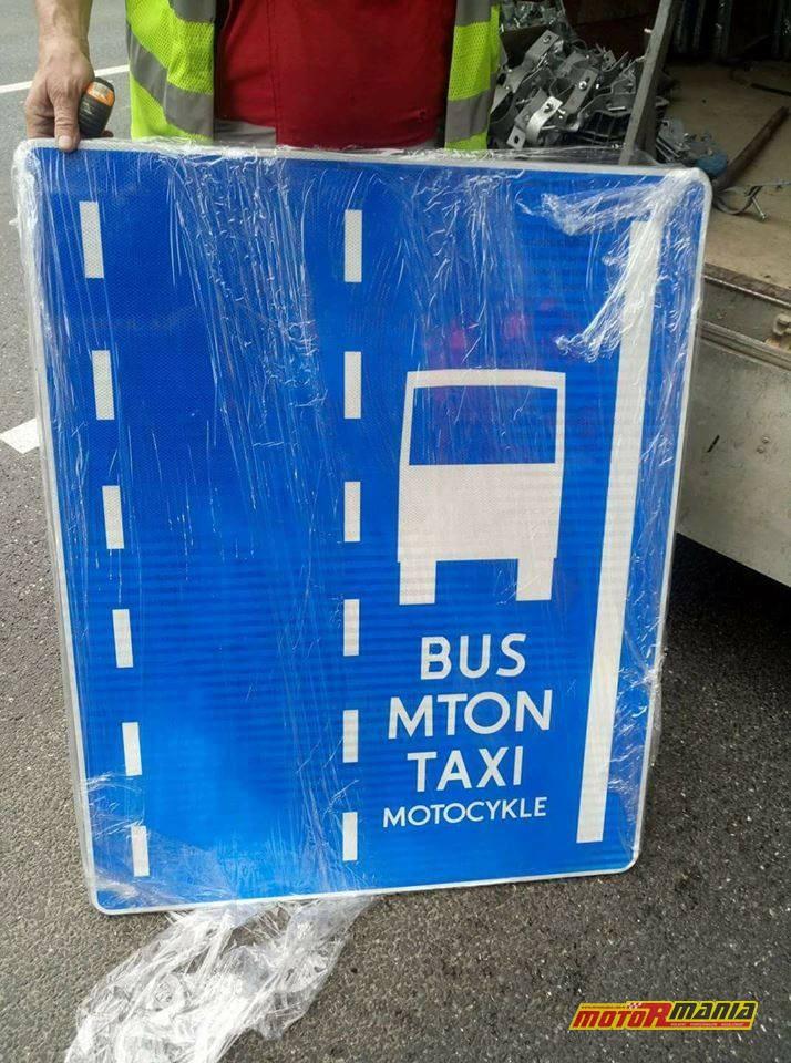 Nowe znaki na buspasach w Warszawie.