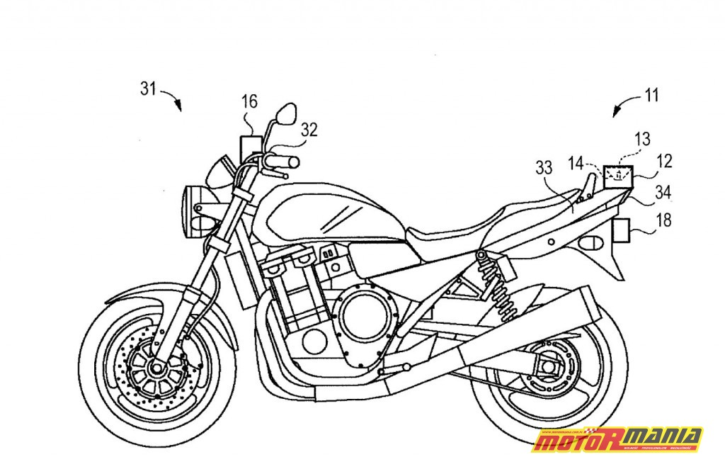 Suzuki patent reflektor słup światła (1)
