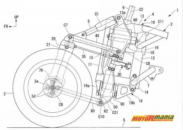 Honda motocykl trójkołowy