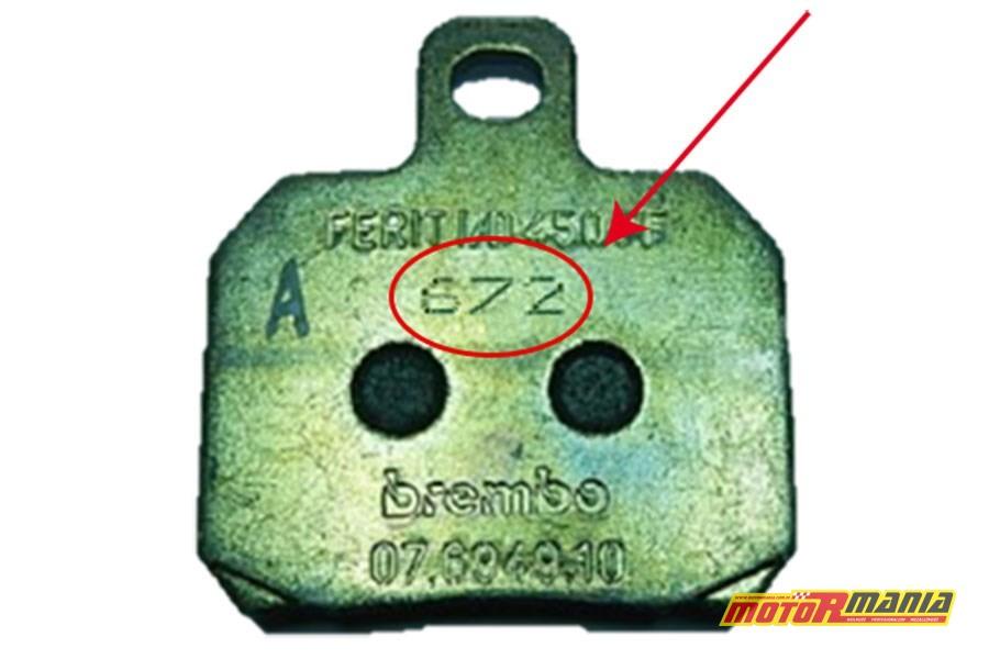 Wadliwy klocek hamulcowy z serii 672
