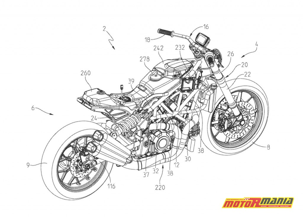 Indian FTR1200 2019 - rysunki patentowe (2)