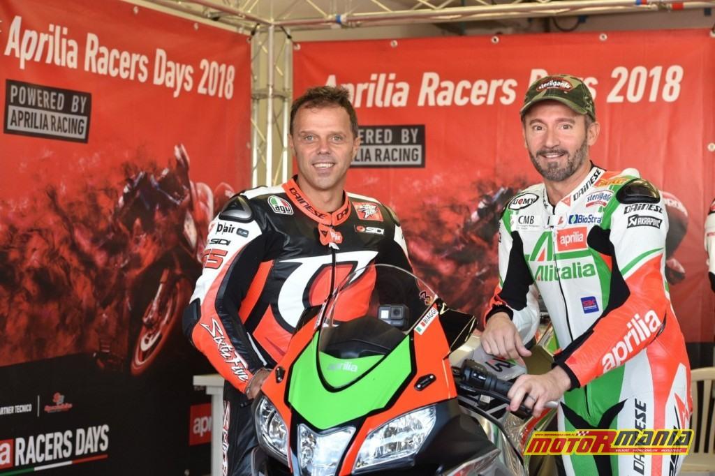 Max Biaggi Loris Capirossi Aprilia track day (1)