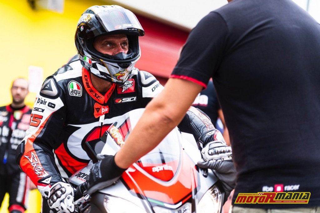 Max Biaggi Loris Capirossi Aprilia track day (6)