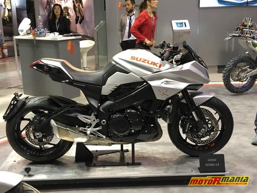 Model koncepcyjny Suzuki Katana zaprezentowany na wystawie EICMA 2017.