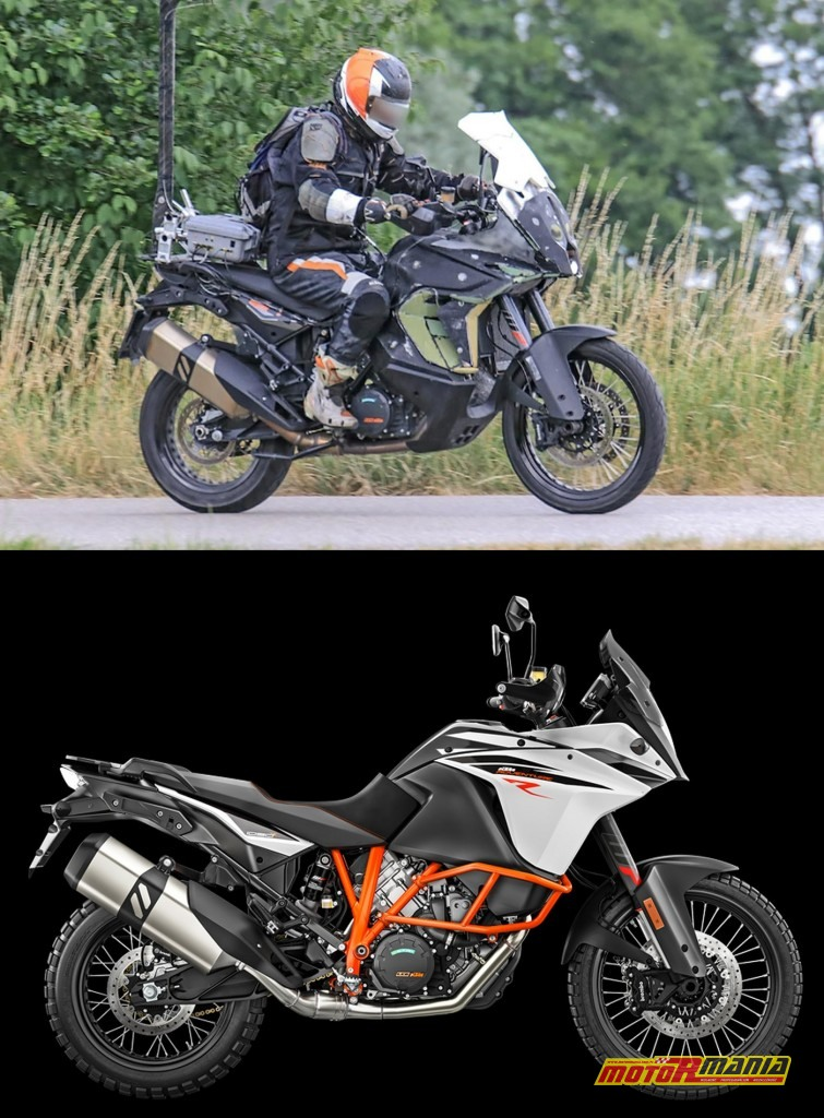 Porównanie: model ze zdjęcia szpiegowskiego oraz aktualny 1090 Adventure R 2018.