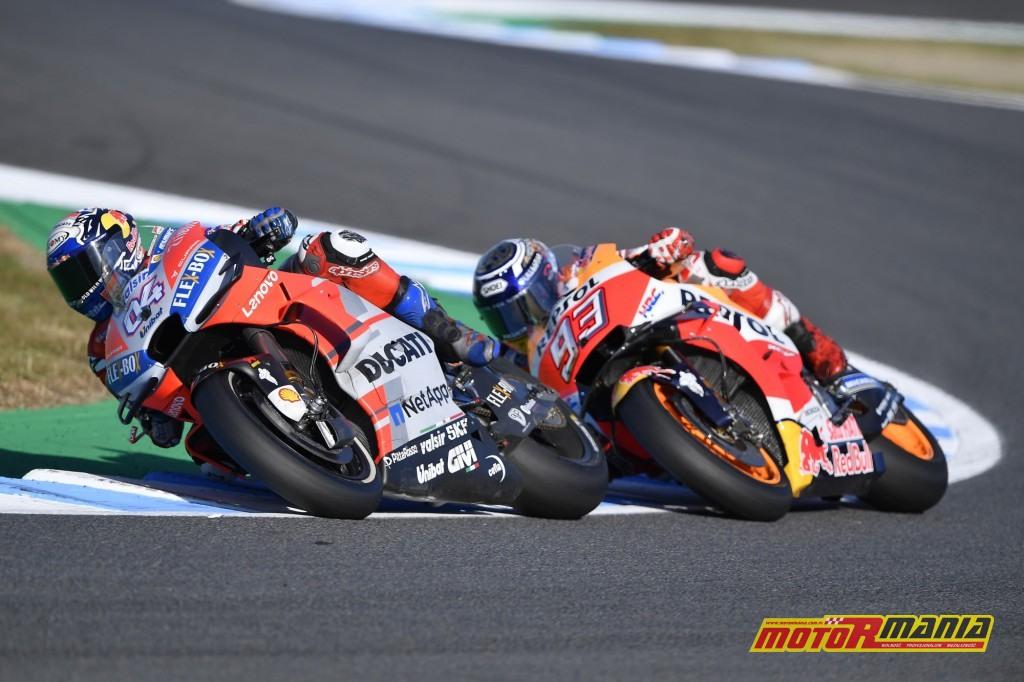 Dovizioso długo jechał na czele stawki - foto: Ducati