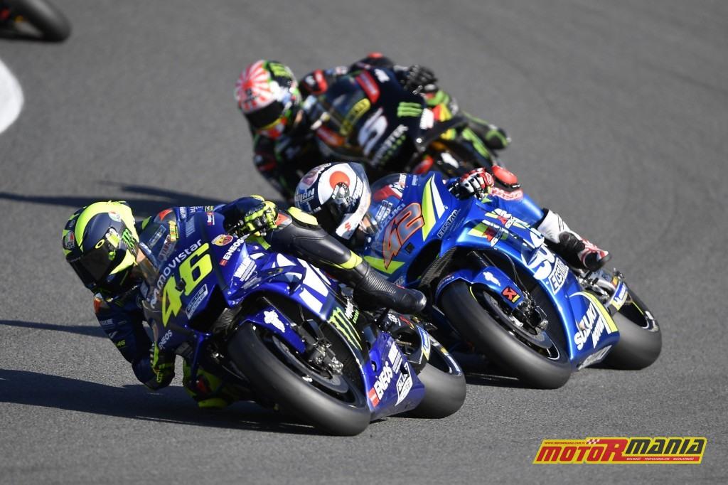 Rossi nie byłw stanie dotrzymać Rinsowi kroku i powalczyć o podium - foto: Yamaha