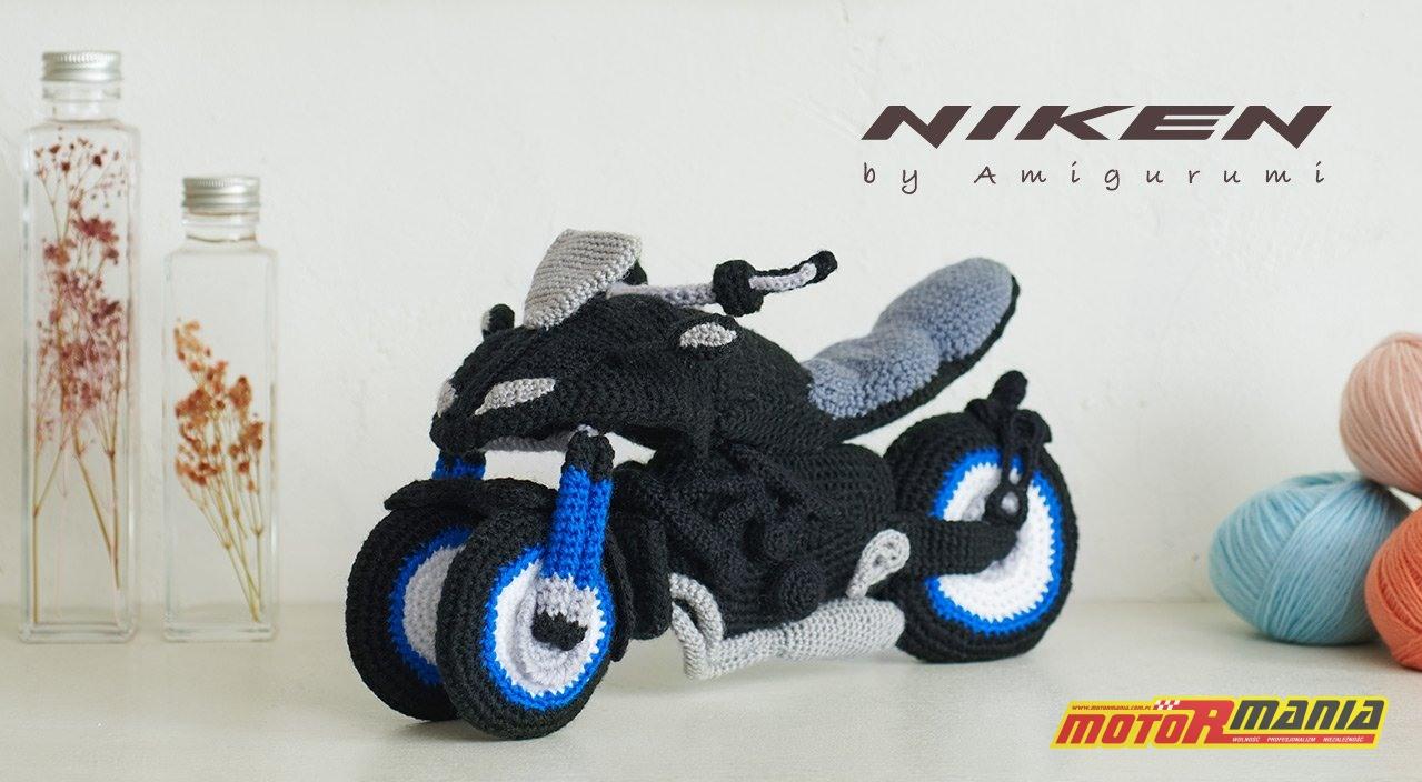 Yamaha Niken Amigurumi szydełkowanie wypchana zabawka (10)